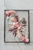 Glazen lijst S, droogbloemen div. kleuropties_