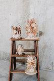 Glazen stolp 28cm, droogbloemen div. kleuropties_