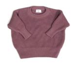 Cordero knit aubergine_