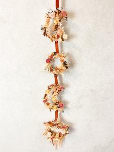 Flower slinger 85cm, droogbloemen div. kleuren