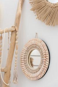 Ronde spiegel 'shell'